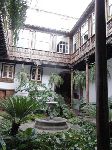 Innenhof Spanischer Häuser casa de la alhóndiga archives teneriffa wandern