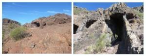 Vorbei an Höhlen