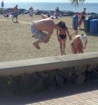 Tricking an der Playa La Vista
